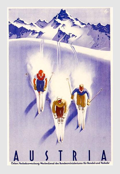 Historisches Plakat der Österreichischen Verkehrswerbung.