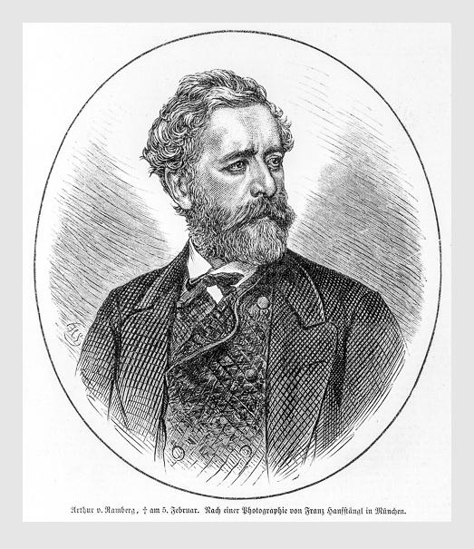 Nach einer Photographie von Franz Hanfstaengl: Georg Arthur Freiherr von Ramberg.