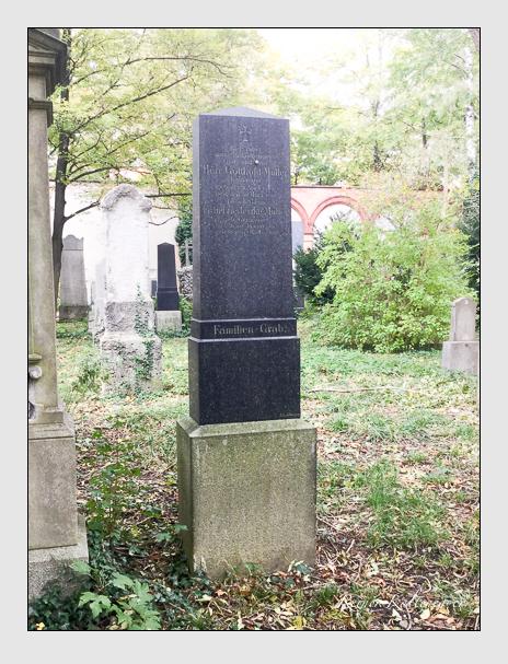 Grab der Familie Müller auf dem Alten Südfriedhof München (Oktober 2017)