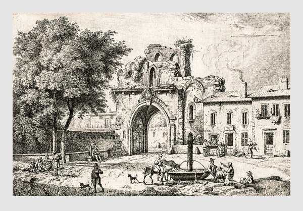 Ferdinand Kobell: Abbildung aus »Livre Ou Instruction Pour Dessiner Les Paysages«; Mannheim, 1784.