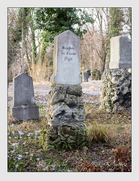 Grab der Familie Beyhl auf dem Alten Südfriedhof München (Februar 2020)
