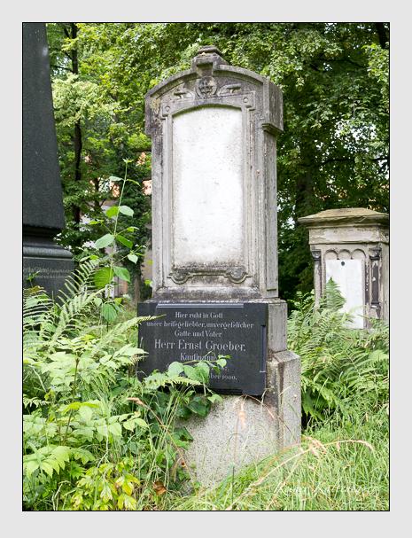 Grab der Familie Groeber auf dem Alten Südfriedhof München (April 2020)