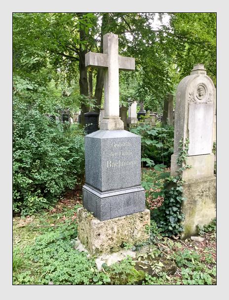 Grab der Familie Bachmann auf dem Alten Südfriedhof München (Oktober 2016)