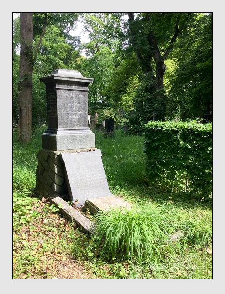 Grab der Familien Diehl · Tausch auf dem Alten Südfriedhof München (Juni 2017)