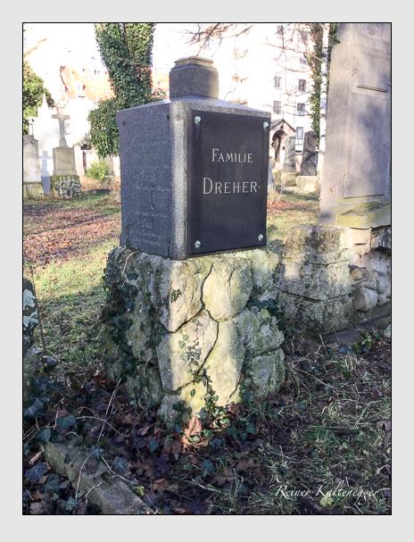 Grab der Familie Dreher auf dem Alten Südfriedhof München (Dezember 2017)