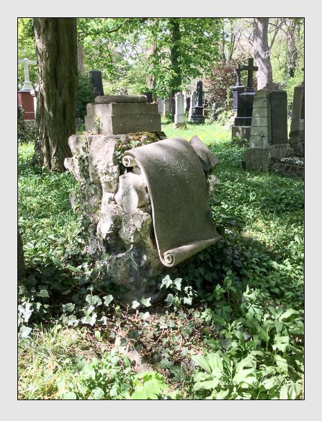 Grab der Familie Müller auf dem Alten Südfriedhof München (April 2018)