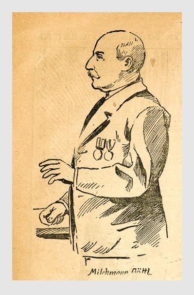 Milchmann Göttl. Abbildung aus: Heinrich Storch: »Wer war der Mörder?« / »Illustrirtes Münchener Extrablatt«. München, 1896.