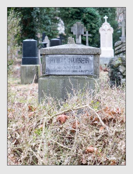 Grab der Familien Huber · Schöppler auf dem Alten Südfriedhof München (Februar 2020)