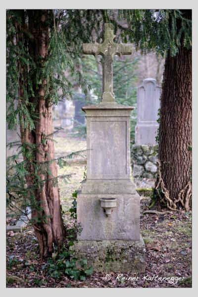 Grab der Familie Kruger auf dem Alten Südfriedhof München (Februar 2021)