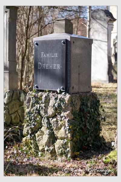 Grab der Familie Dreher auf dem Alten Südfriedhof München (Februar 2021)