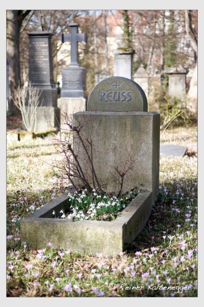 Grab der Familie Reuss auf dem Alten Südfriedhof München (Februar 2021)