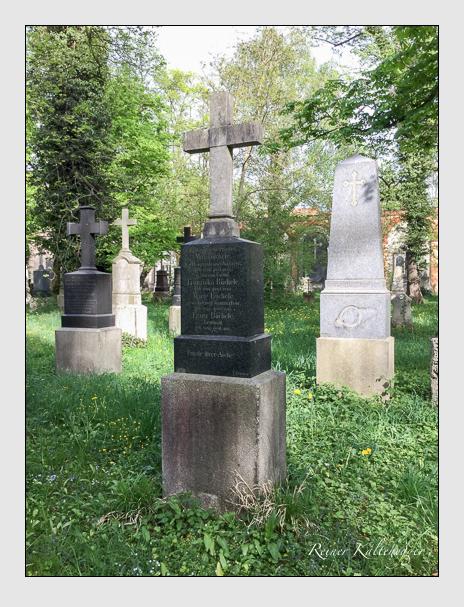 Grab der Familie Büchele auf dem Alten Südfriedhof München (April 2018)