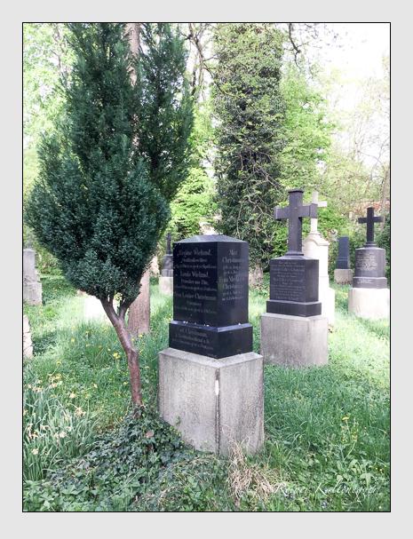 Grab der Familien Christmann · Büchele · Wieland auf dem Alten Südfriedhof München (April 2018)
