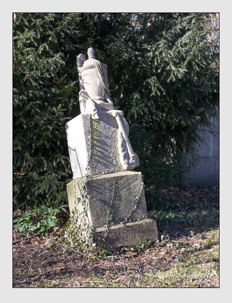 Grab der Familie Nachmann auf dem Alten Südfriedhof München (Februar 2020)