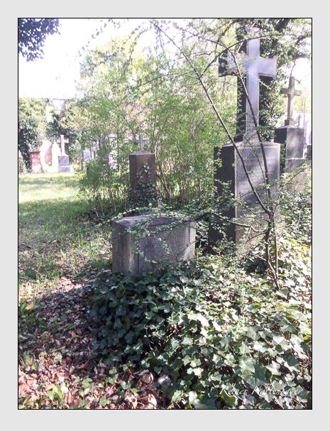 Grab der Familie Hirschböck auf dem Alten Südfriedhof München (April 2020)