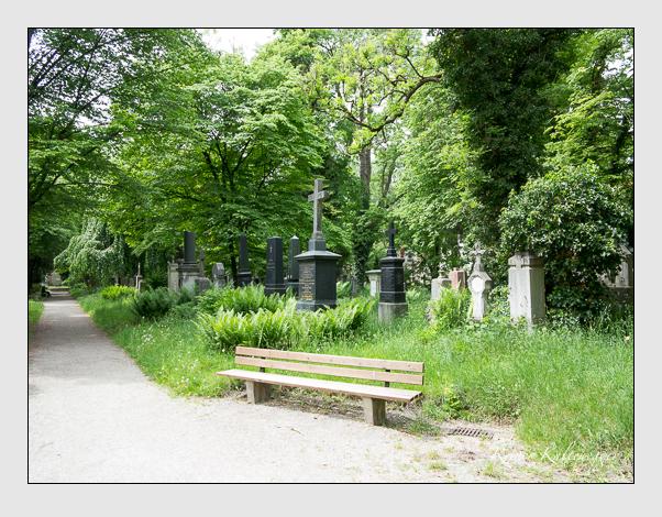 Gräber der Sektion 34 auf dem Alten Südfriedhof München: Ostseite (Mai 2020)