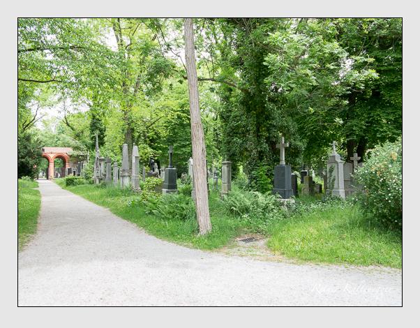 Gräber der Sektion 32 auf dem Alten Südfriedhof München: Westseite (Mai 2020)
