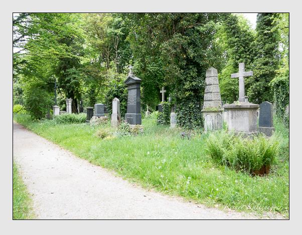 Gräber der Sektion 32 auf dem Alten Südfriedhof München: Ostseite (Mai 2020)