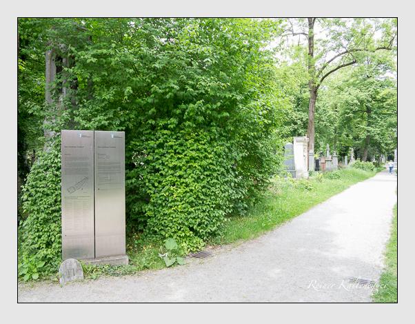 Gräber der Sektion 41 auf dem Alten Südfriedhof München: Ostseite (Mai 2020)