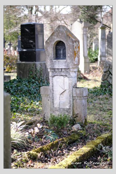 Grab der Familien Baumgartner · Bindl auf dem Alten Südfriedhof München (Februar 2021)