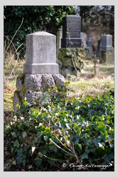 Grab der Familie Dietrich auf dem Alten Südfriedhof München (Februar 2021)