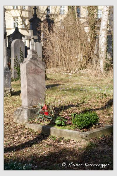 Grab der Familie Fischer auf dem Alten Südfriedhof München (Februar 2021)