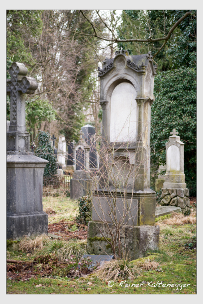 Grab der Familien Buchner · Höglauer auf dem Alten Südfriedhof München (März 2021)