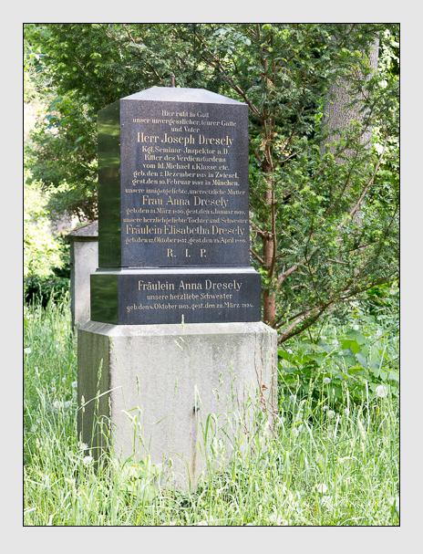 Grab der Familie Dresely auf dem Alten Südfriedhof München (Mai 2018)