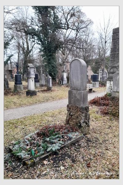 Grab der Familie Nicklas auf dem Alten Südfriedhof München (Februar 2021)