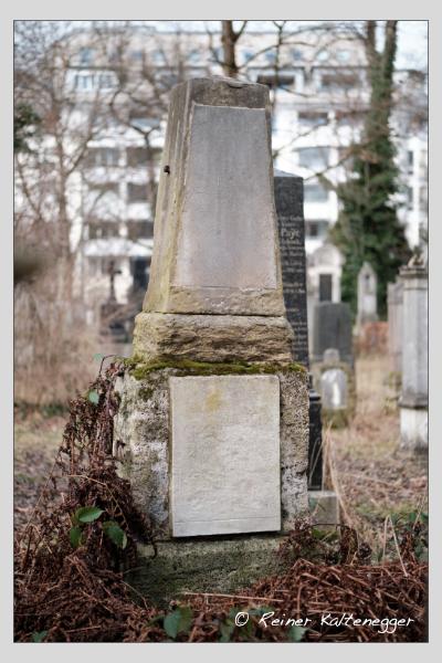 Grab der Familie Distl auf dem Alten Südfriedhof München (Februar 2021)
