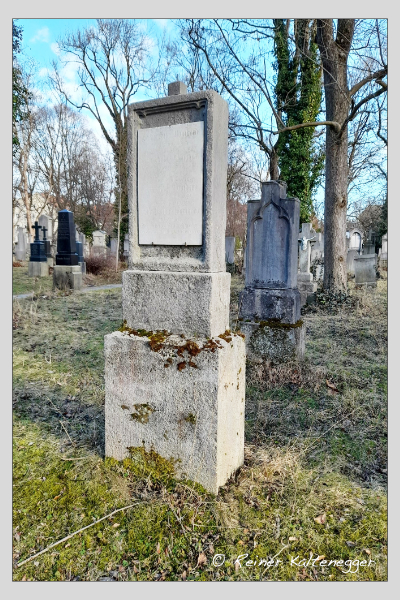 Grab der Familien Bieregel · Rhein auf dem Alten Südfriedhof München (Februar 2021)