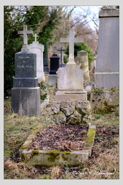 Grab der Familie Hein auf dem Alten Südfriedhof München (Februar 2021)