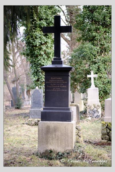 Grab der Familien Braun · Gerber auf dem Alten Südfriedhof München (Februar 2021)