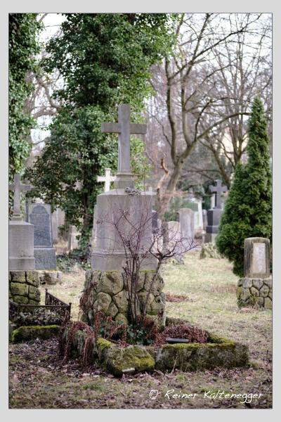 Grab der Familie Pflaumer auf dem Alten Südfriedhof München (Februar 2021)