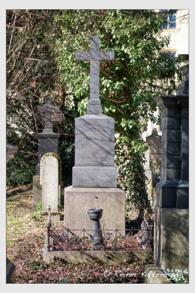 Grab der Familie Weigl auf dem Alten Südfriedhof München (Februar 2021)