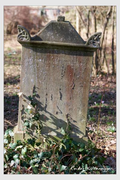 Grab der Familie Brizzi auf dem Alten Südfriedhof München (Februar 2021)