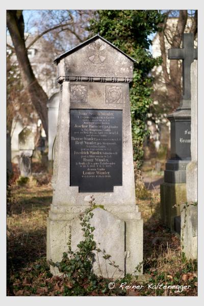 Grab der Familien Harscher · Wunder auf dem Alten Südfriedhof München (Februar 2021)