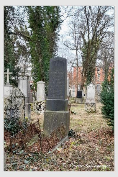 Grab der Familie Steinmetz auf dem Alten Südfriedhof München (März 2021)