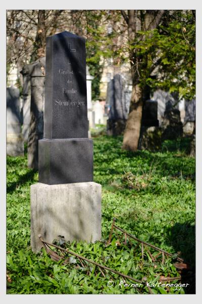 Grab der Familie Steinberger auf dem Alten Südfriedhof München (März 2021)