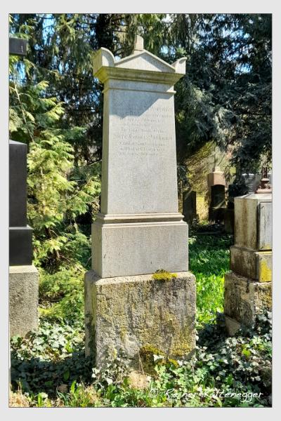 Grab der Familie Donhauser auf dem Alten Südfriedhof München (April 2021)