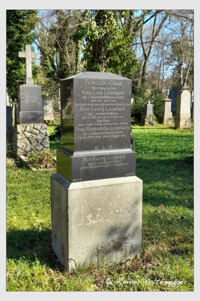 Grab der Familien Leimbach · Seidenberger auf dem Alten Südfriedhof München (April 2021)